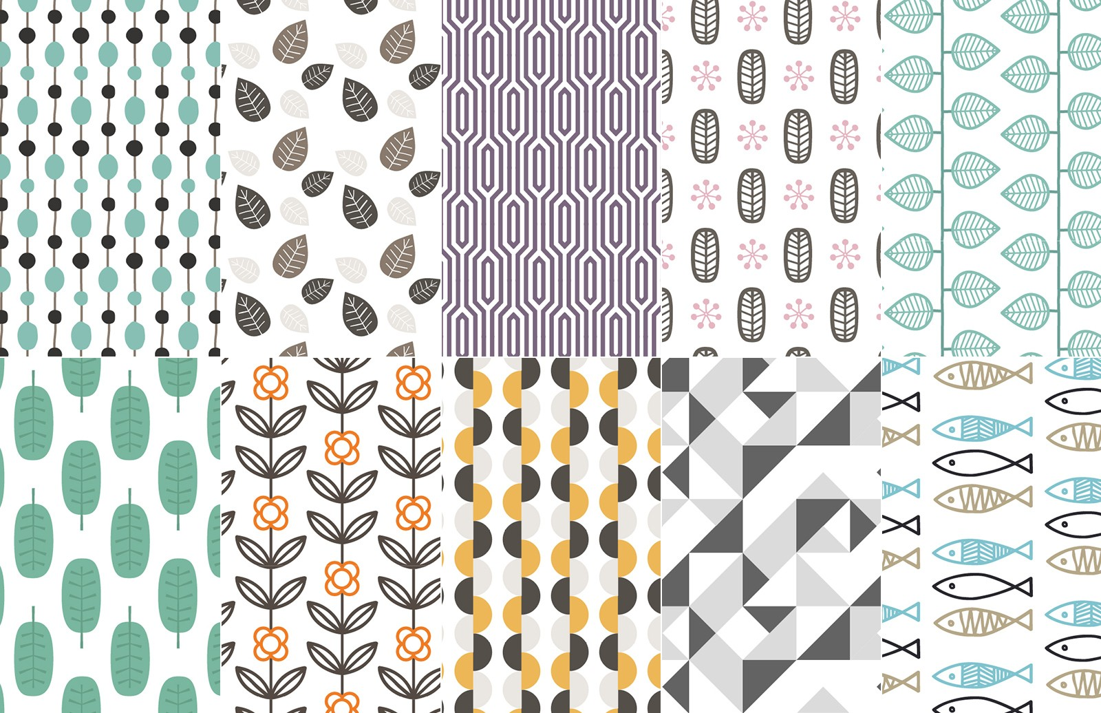 Seamless Scandinavian Vector Patterns 2