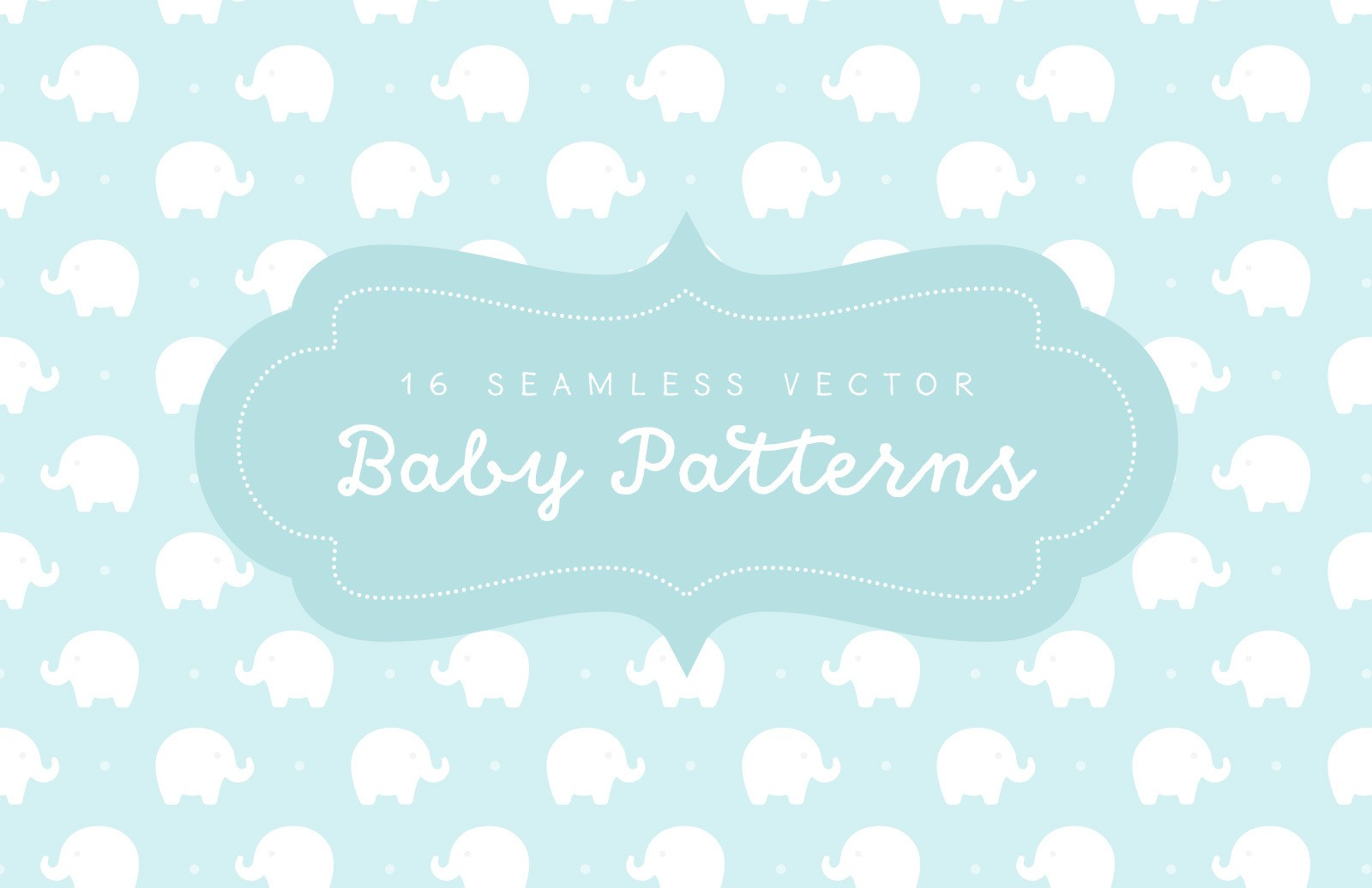 Seamless Vector Baby Patterns Preview 1