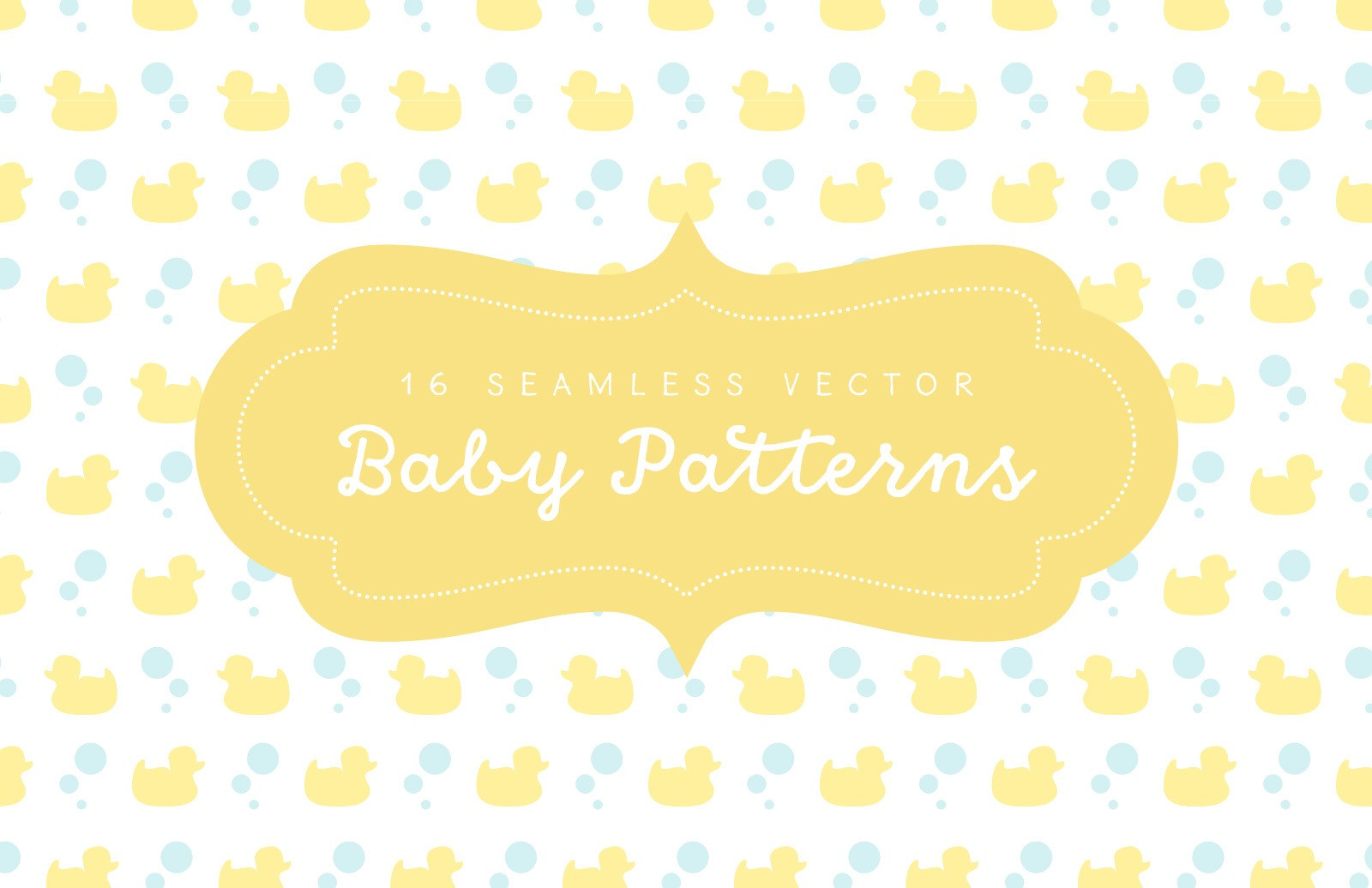 Seamless Vector Baby Patterns