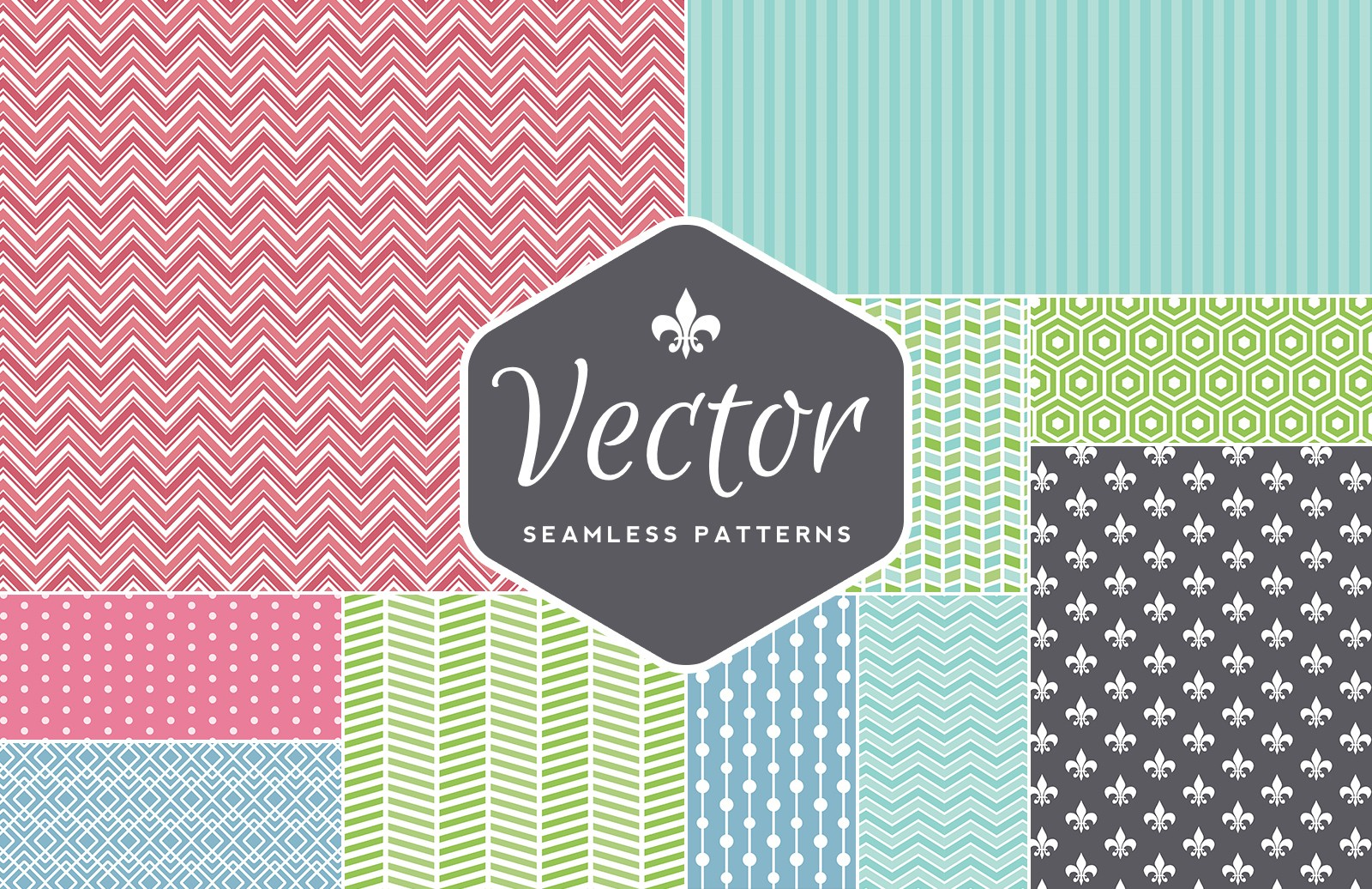 Seamless  Vector  Patterns  Preview 1