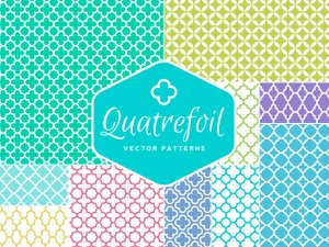 Seamless Vector Quatrefoil Patterns 1
