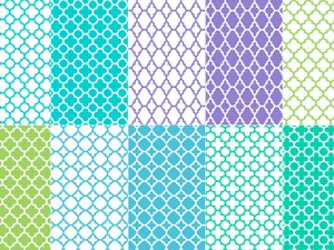Seamless Vector Quatrefoil Patterns 2