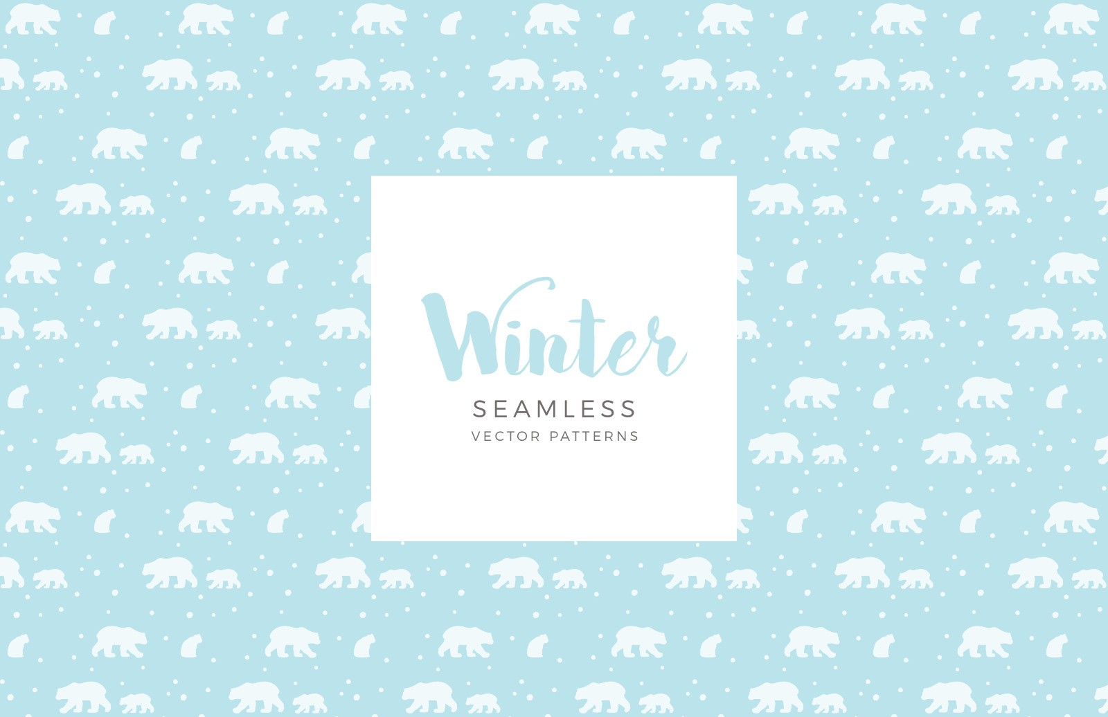 Seamless Vector Winter Patterns Preview 1