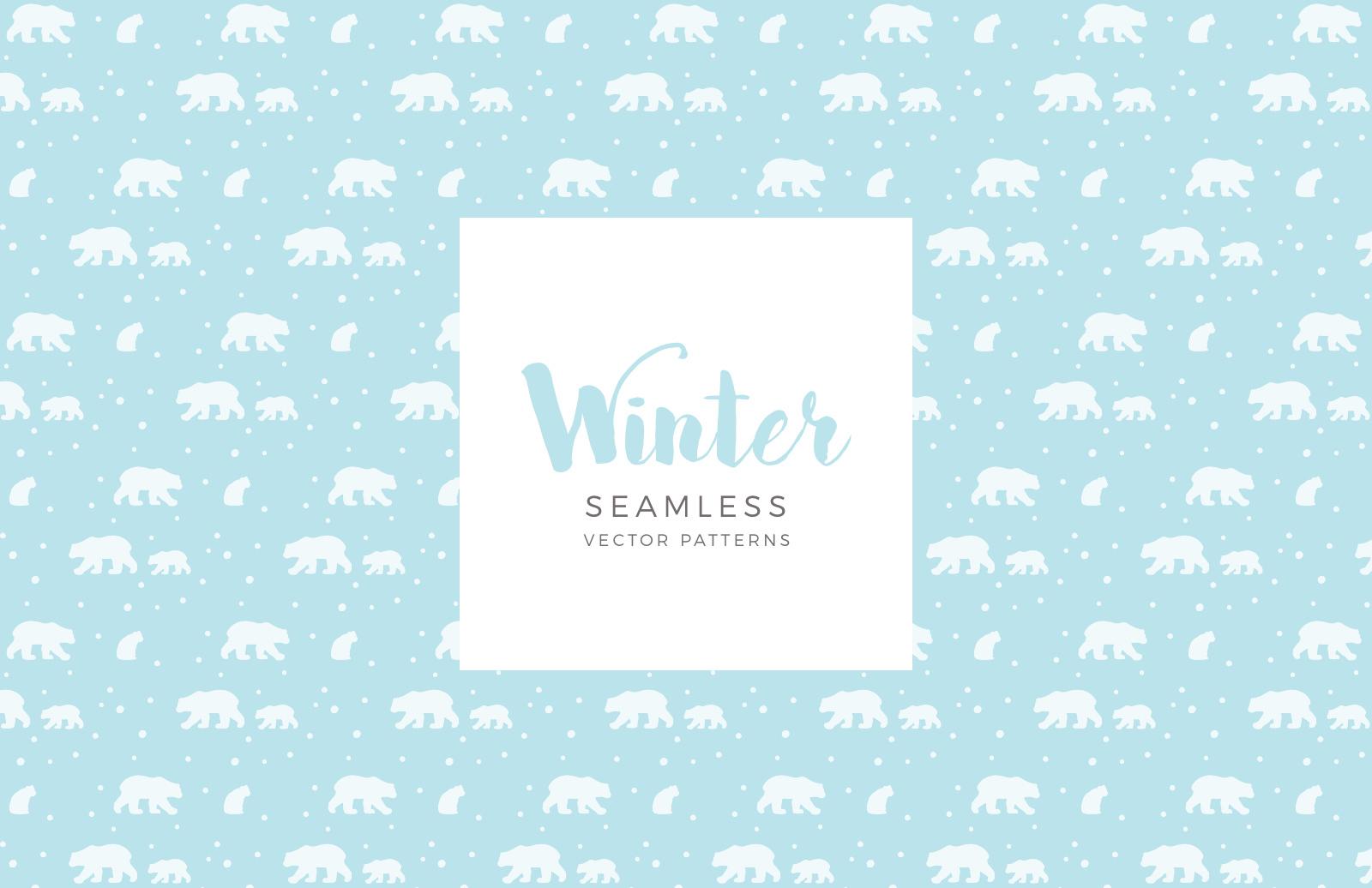 Seamless Vector Winter Patterns