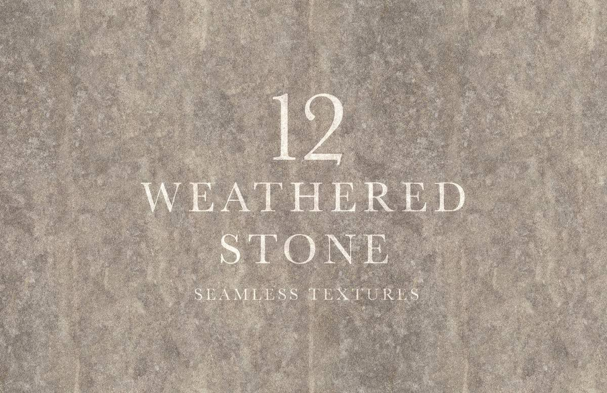 Seamless Weathered Stone Textures Preview 1