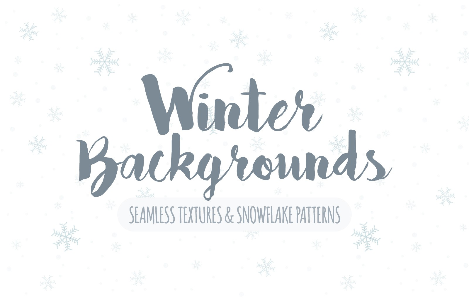 Seamless Winter Snowflake Backgrounds Preview 1