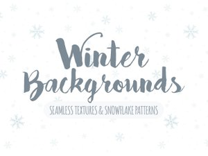 Seamless Winter Snowflake Backgrounds 1