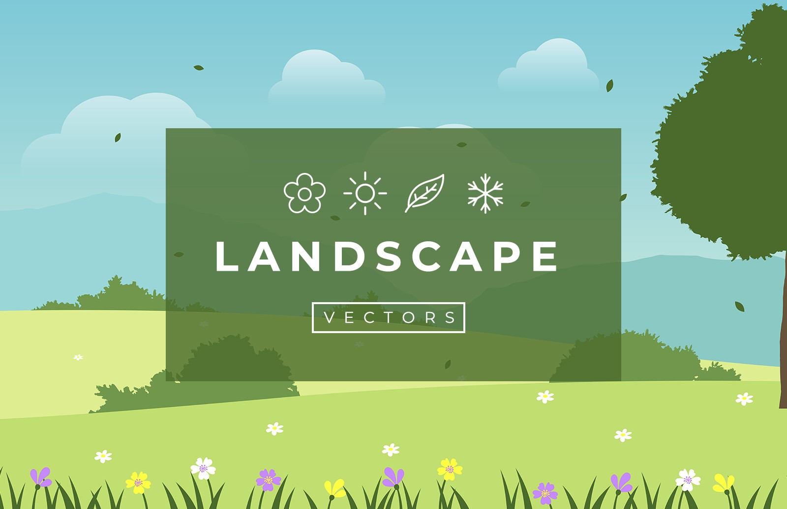 Seasonal Vector Landscapes Preview 1