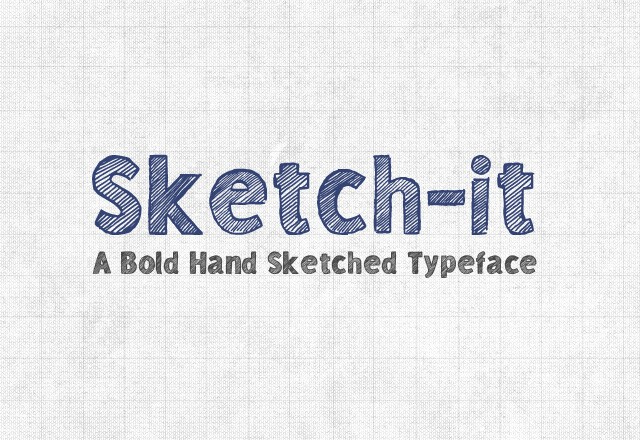 Sketch-it Desktop & Web Font