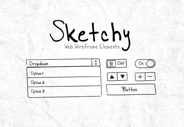 Sketchy Web Wireframe Elements