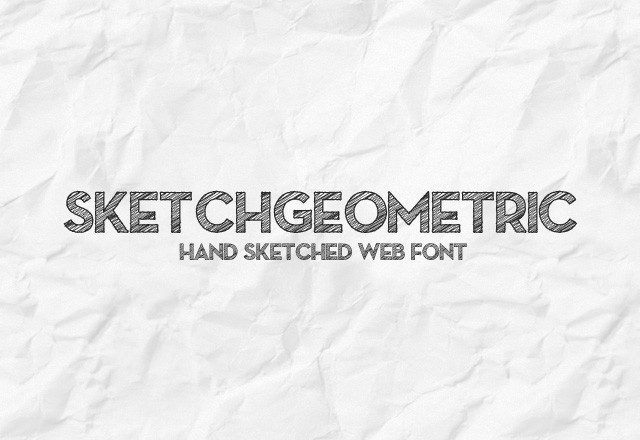 SketchGeometric Webfont