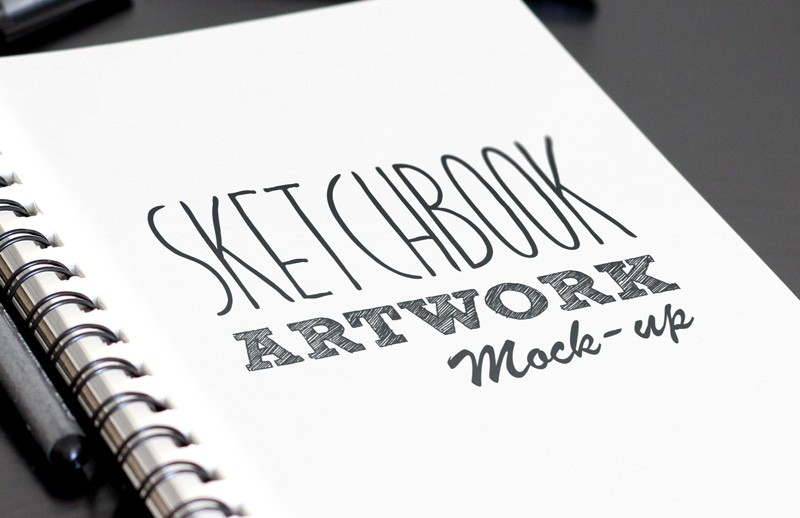 Sketchbook Artwork Mockup