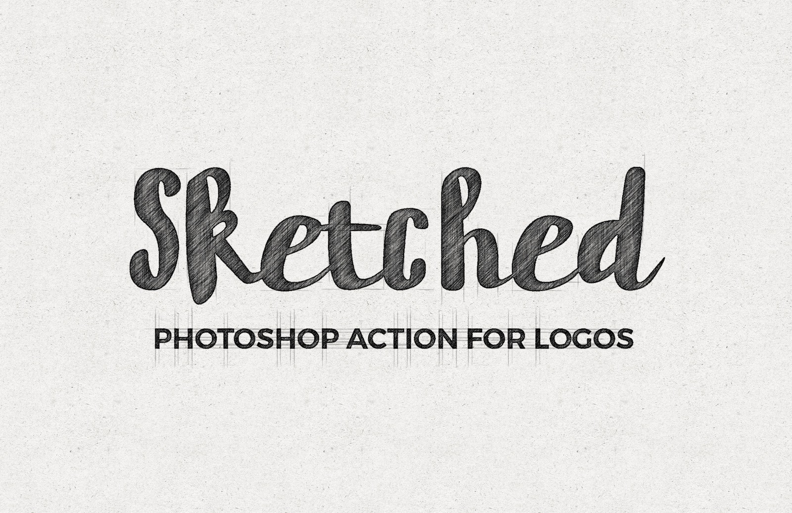 Large Sketched  Logo  Photoshop  Action  Preview 1