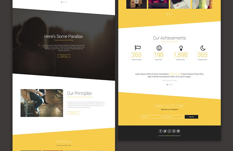Large Skewed  Landing  Page  Template  Preview 3B