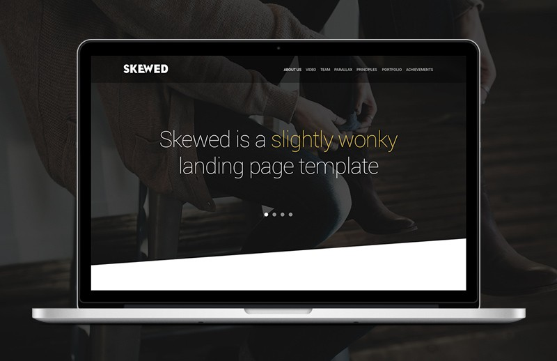 Large Skewed  Landing  Page  Template  Preview 1B