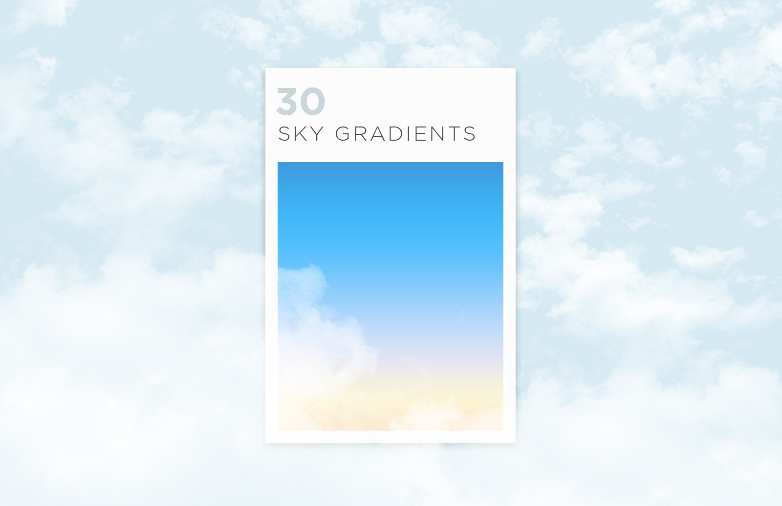 Free Sky Gradients for Photoshop