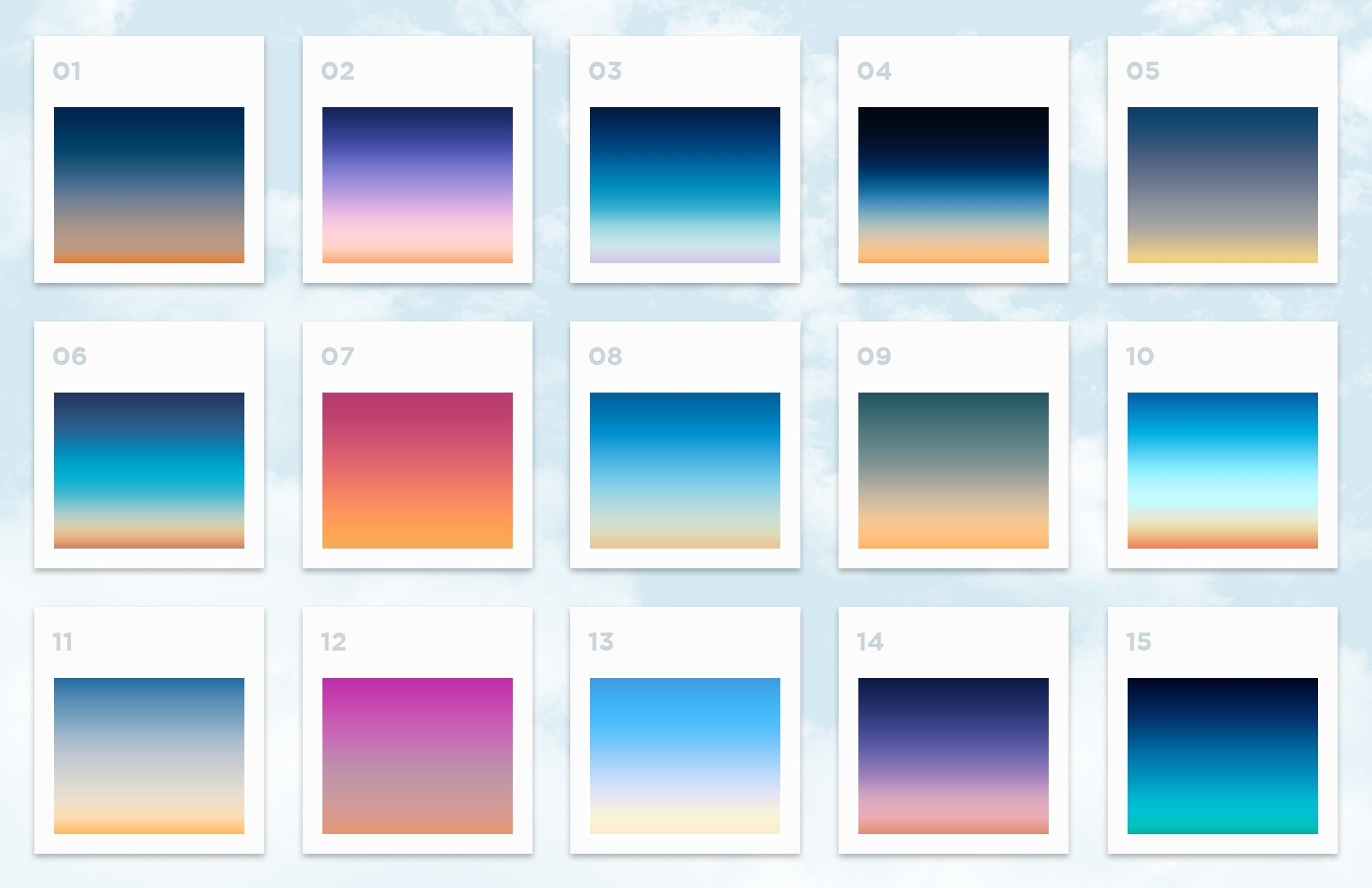 Free Sky Gradients for Photoshop 2