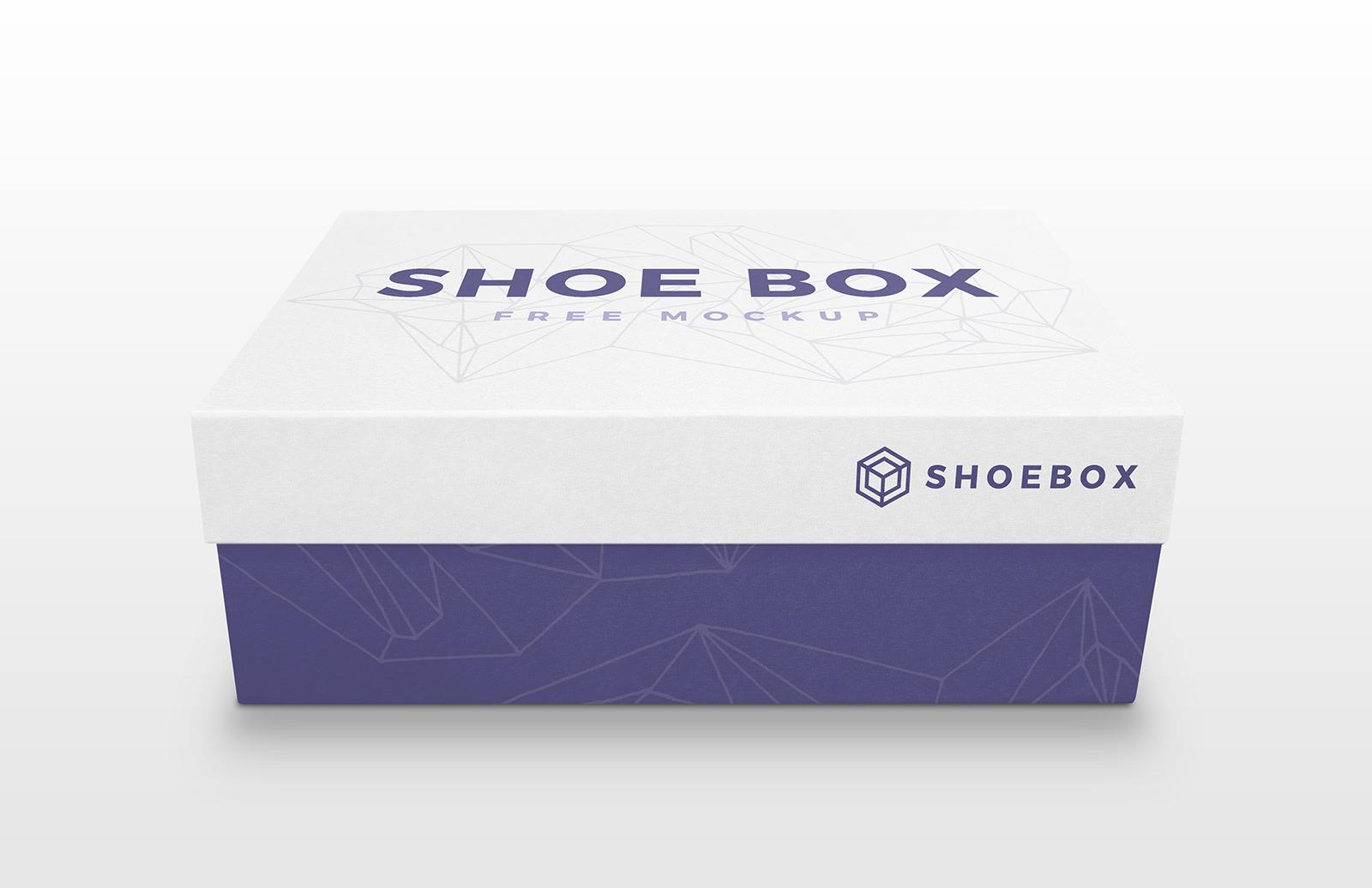 Free Shoe Box Mockup PSD