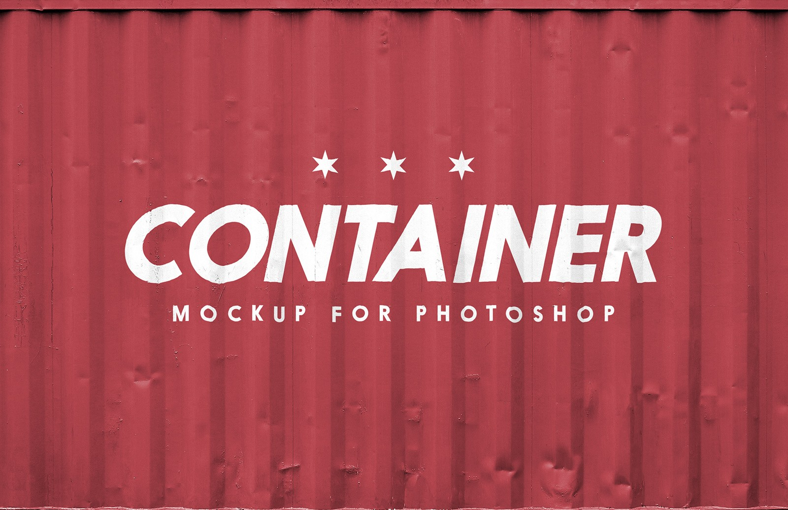 Free Shipping Container Logo Mockup PSD