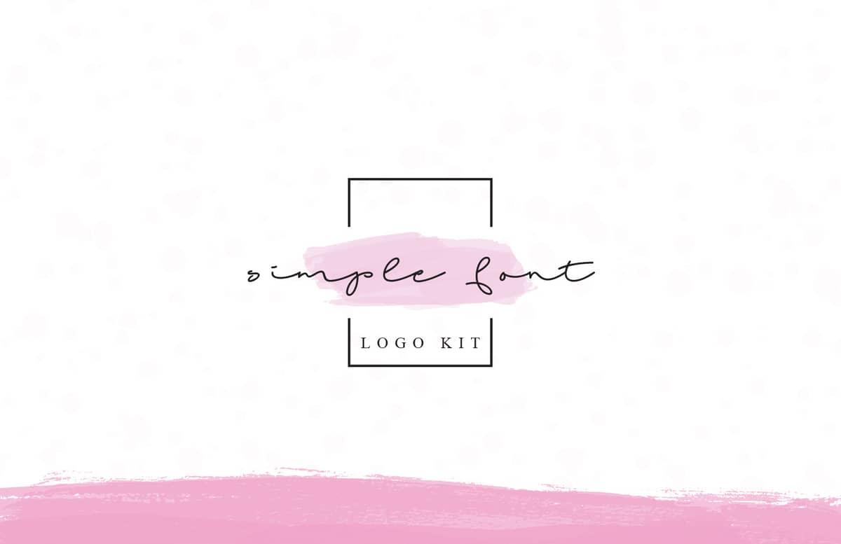 Simple Font Logo Kit Preview 1