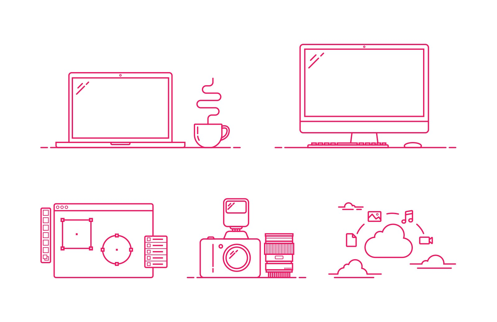 Large Simple  Line  Vector  Icons 2