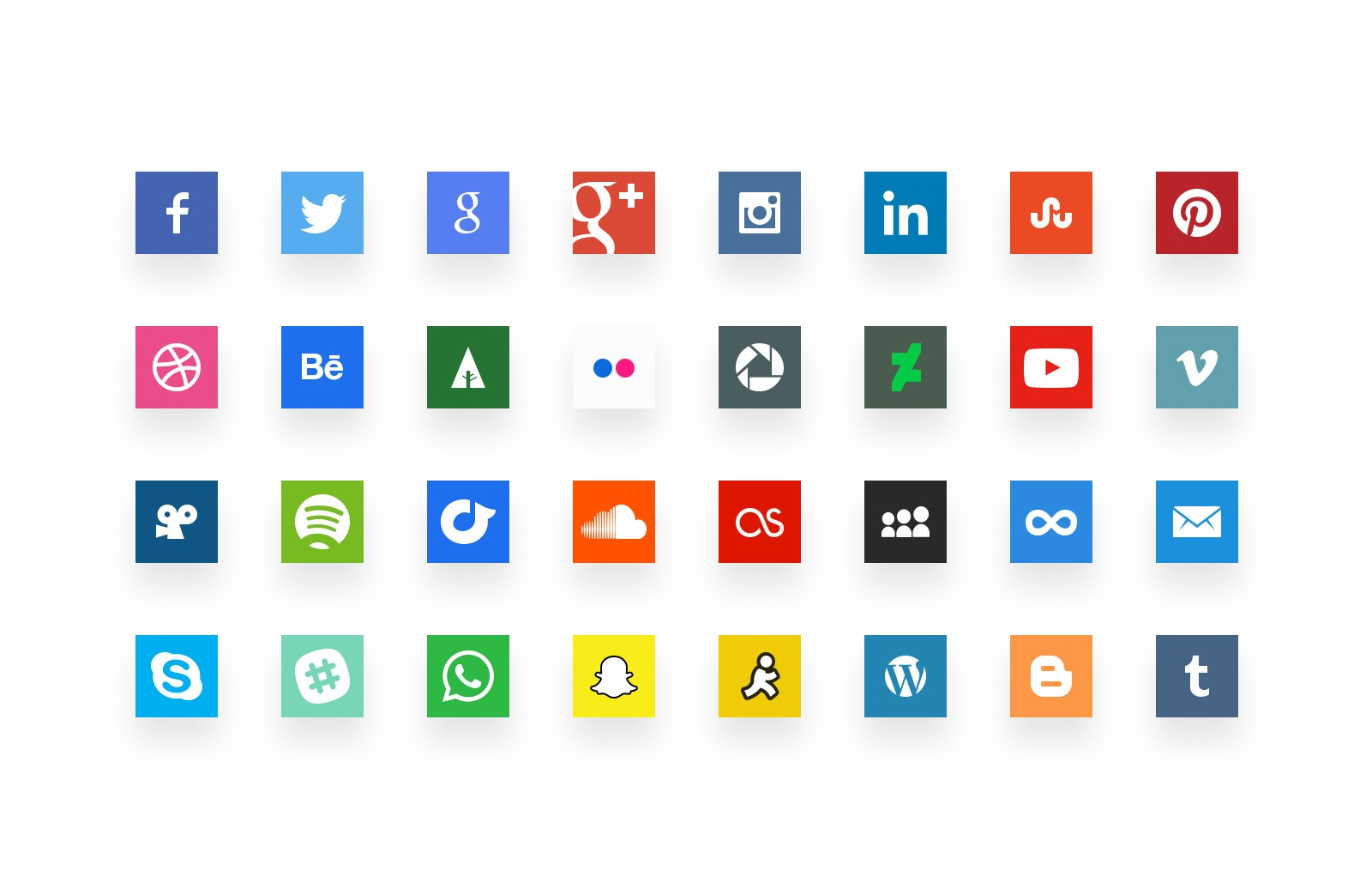 Simple  Social  Media  Icons  Preview 1A