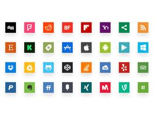 Simple Social Media Icons 2