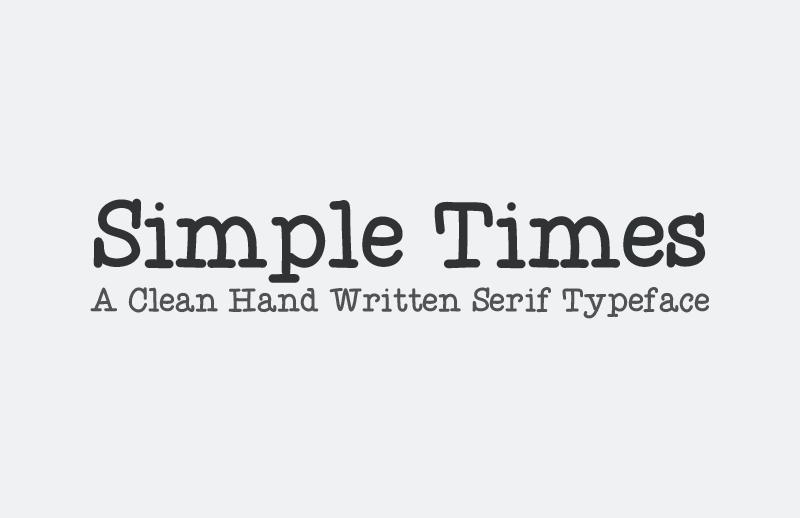 Simple Times - Web Font Kit