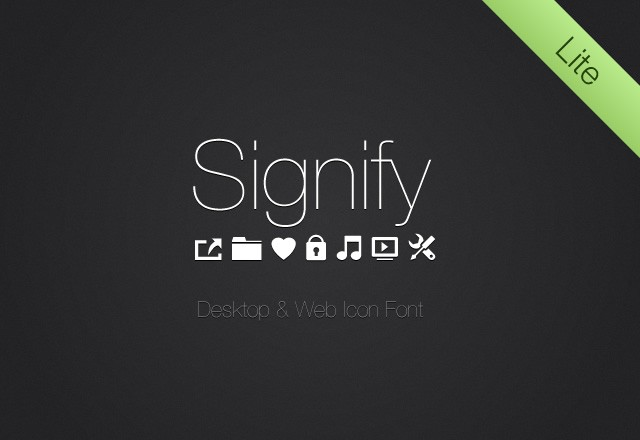 Signify Lite: Free Icon Font