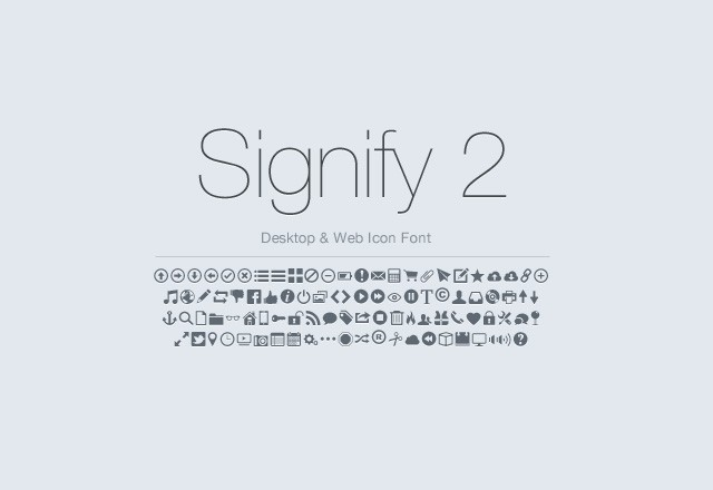 Signify 2 - Icon Font