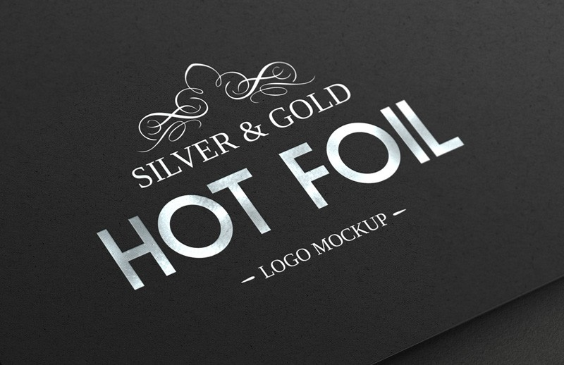 Silver   Gold  Hot  Foil  Logo  Mockup  Preview 1