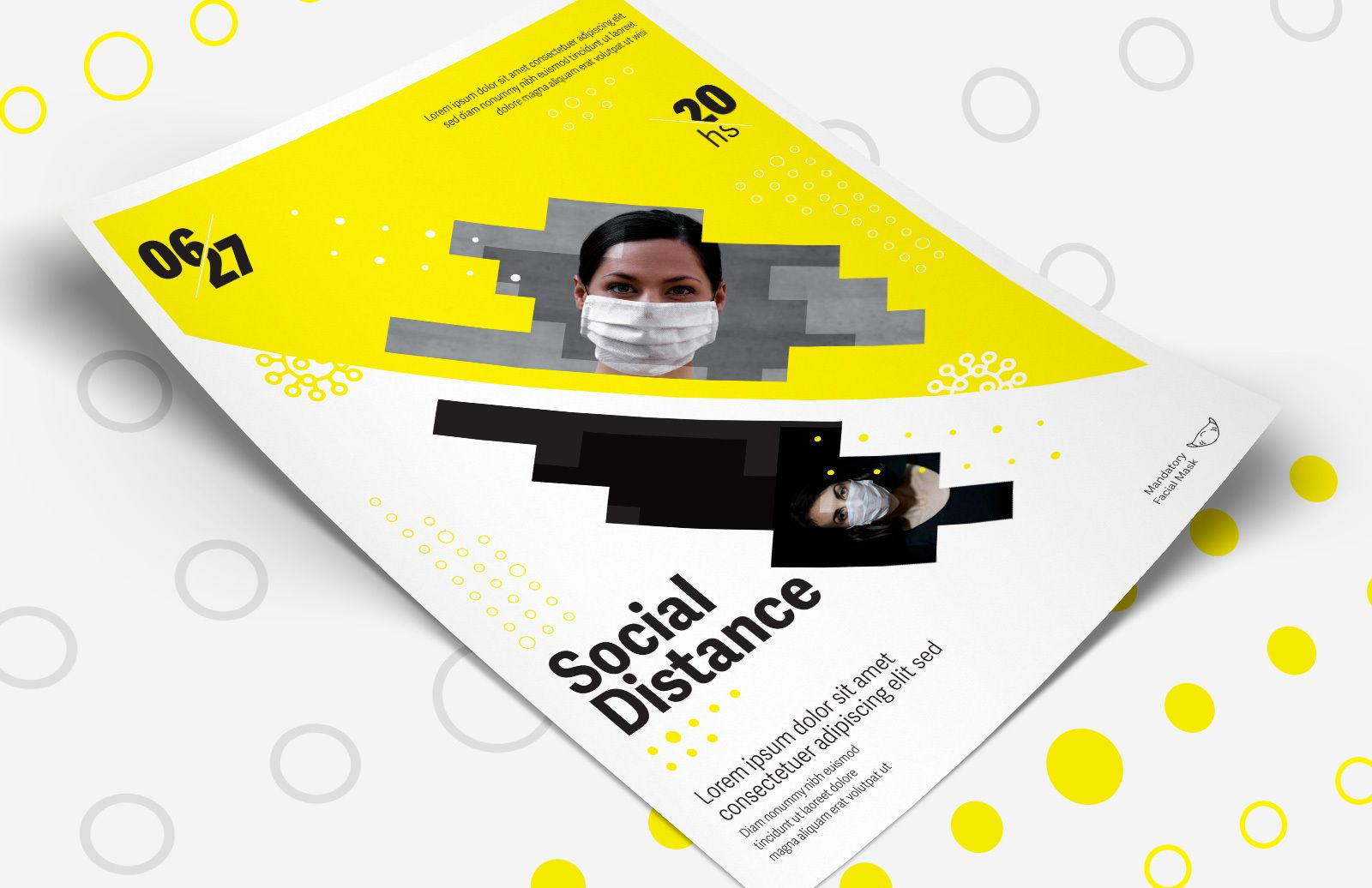 Social Distance Event Flyer Template Preview 1