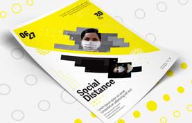 Social Distance Event Flyer Template
