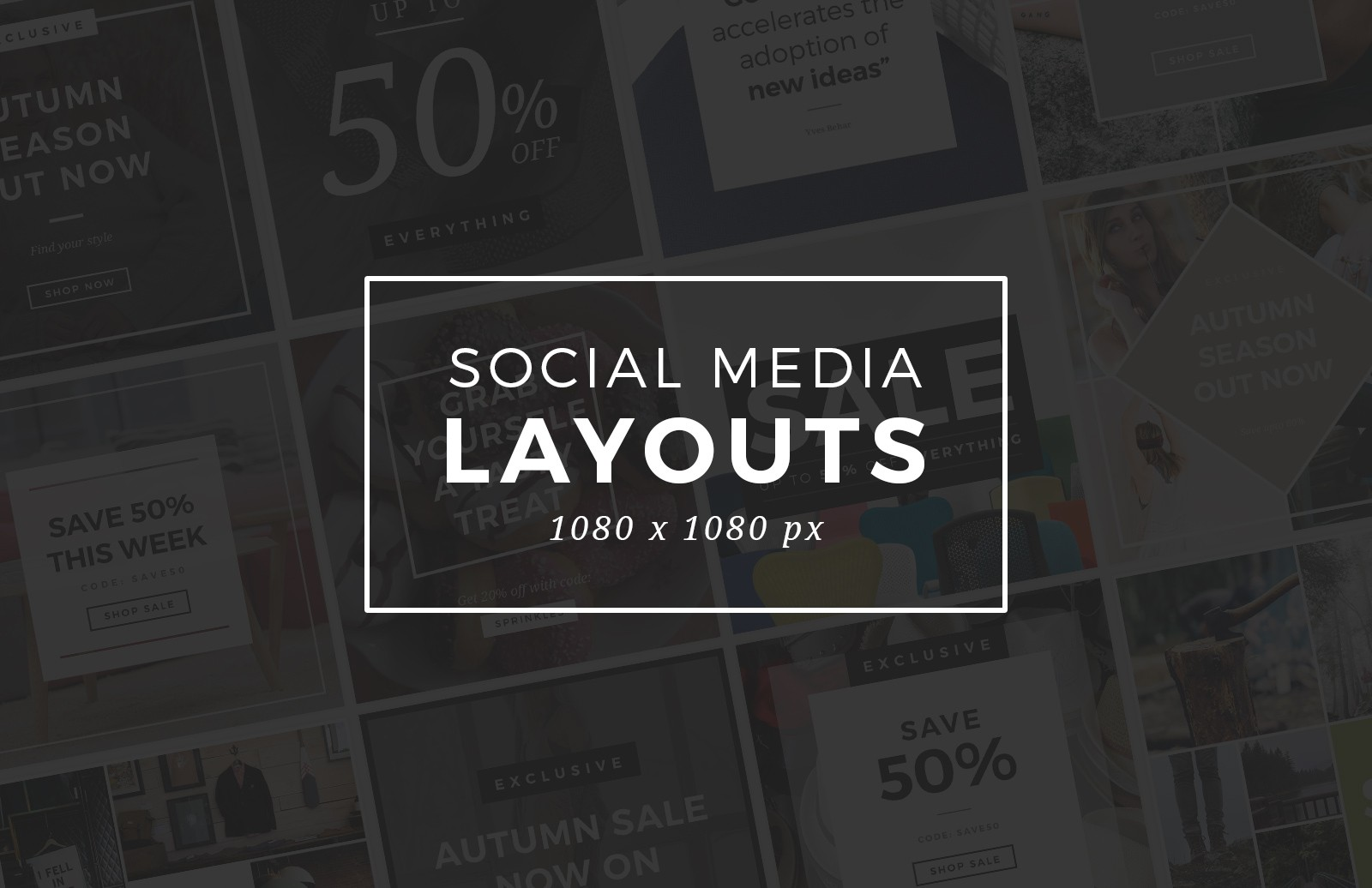 Large Social  Media  Layouts  Preview 1
