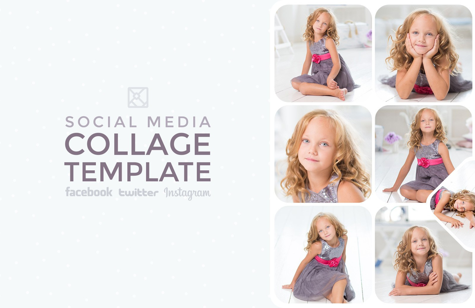 Social Media Photo Collage Templates Preview 1