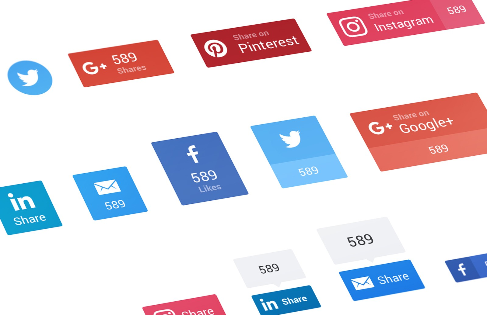Large Social  Sharing  Buttons  Preview 1