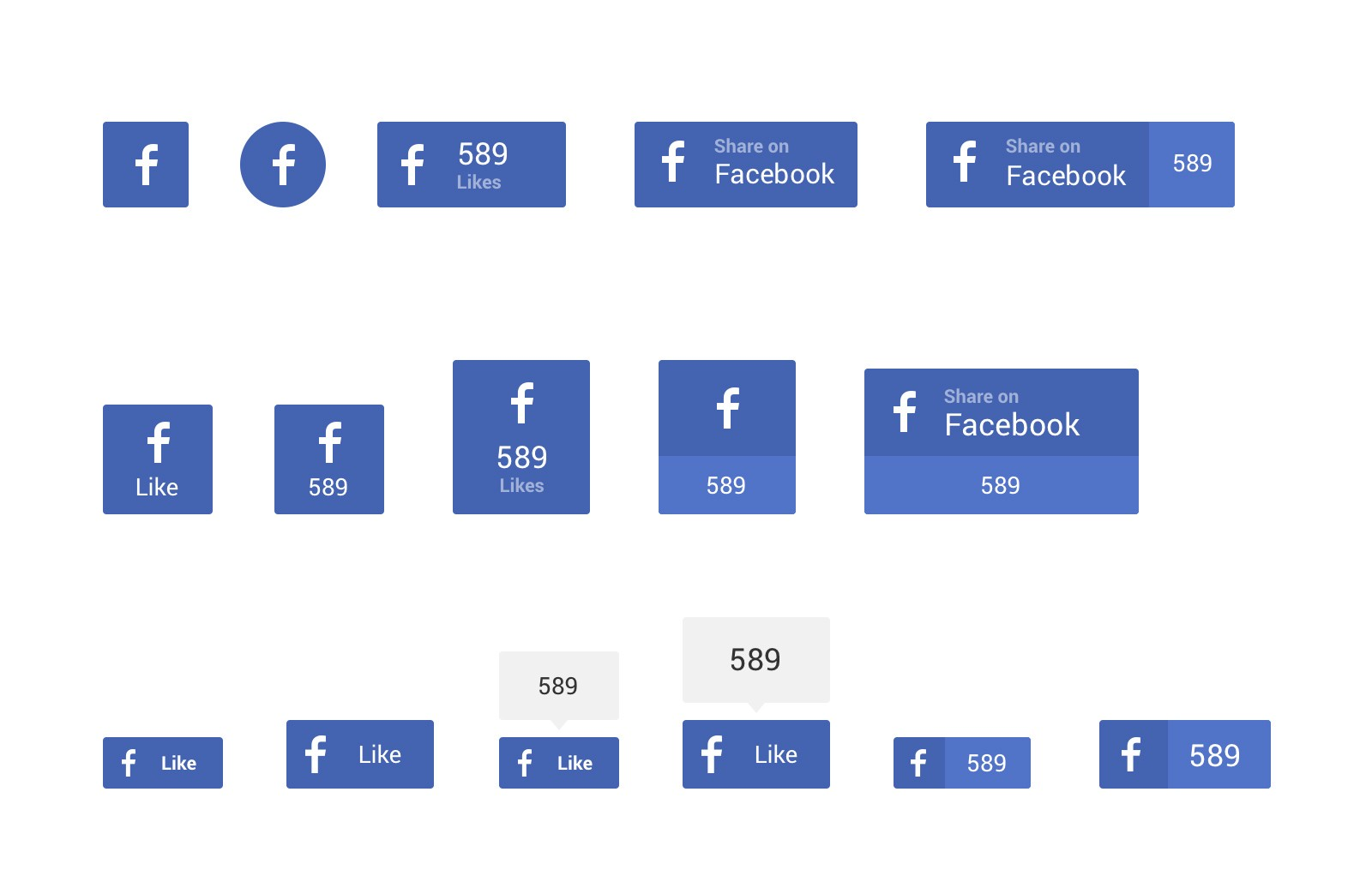 Large Social  Sharing  Buttons  Preview 2