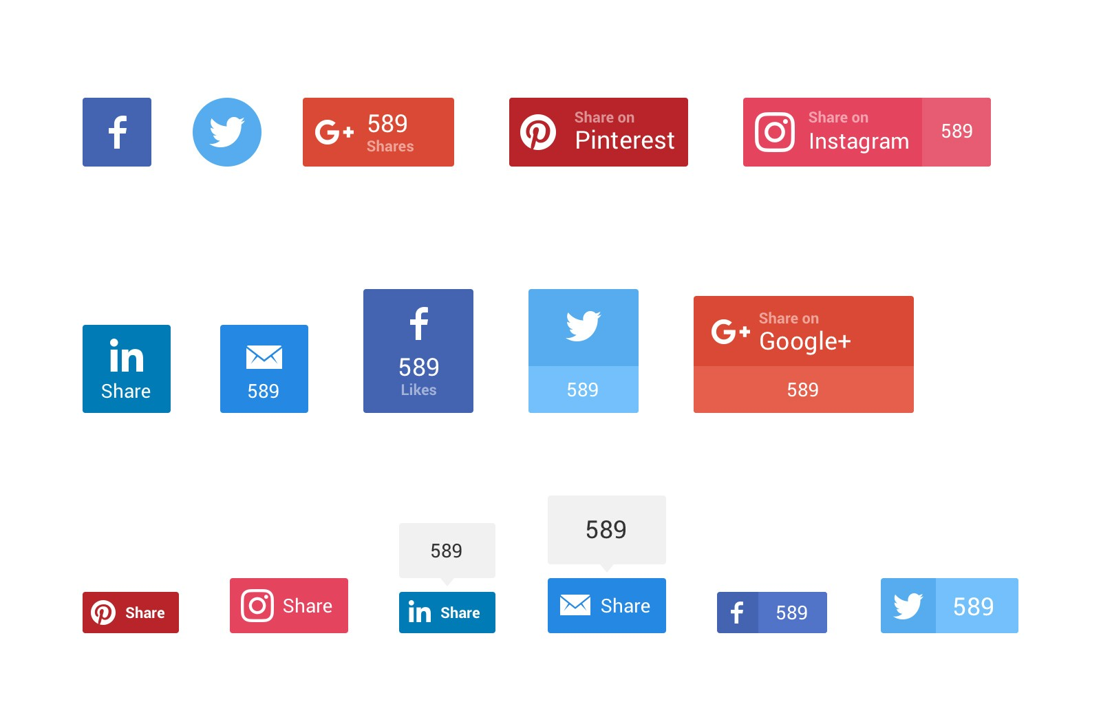 Large Social  Sharing  Buttons  Preview 4