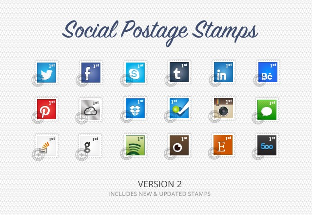 Social  Postage  Stamps  Preview1