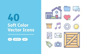 Soft Color Vector Icons