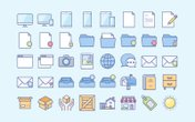 Soft Color Vector Icons (Updated)