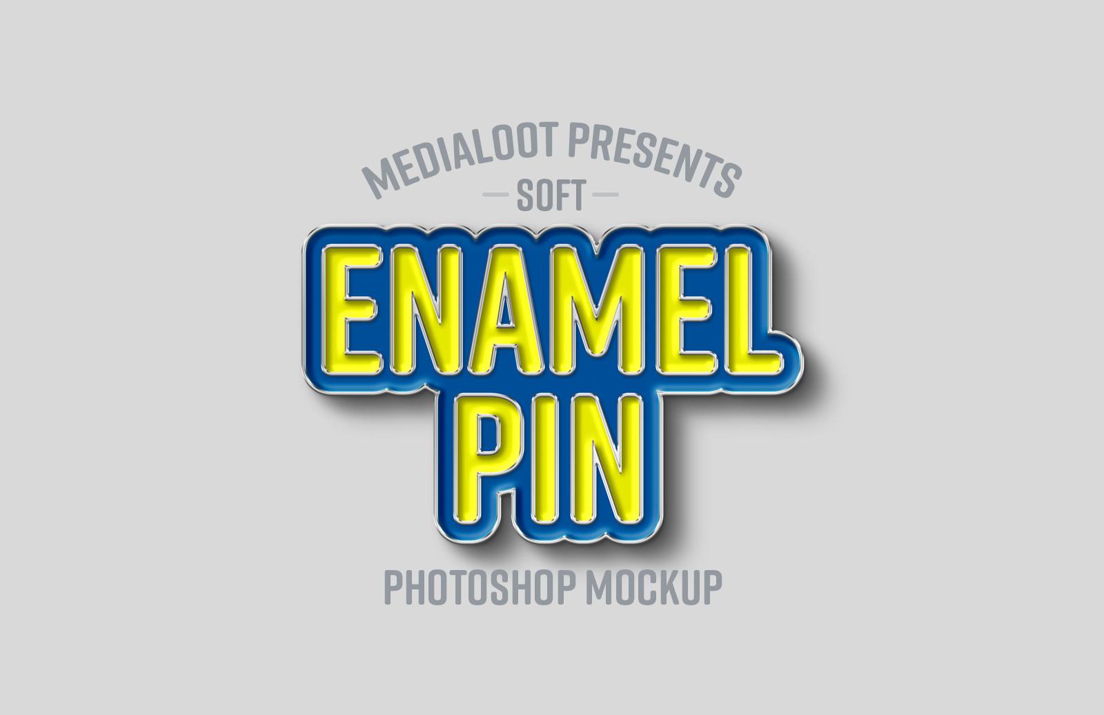 Soft Enamel Pin Mockup Preview 1