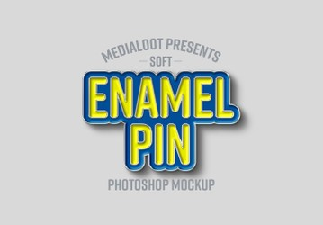 Soft Enamel Pin Mockup