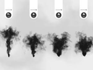 Soft Smoke Photoshop Brushes 2