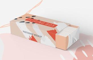 Sliding Box Packaging Mockup