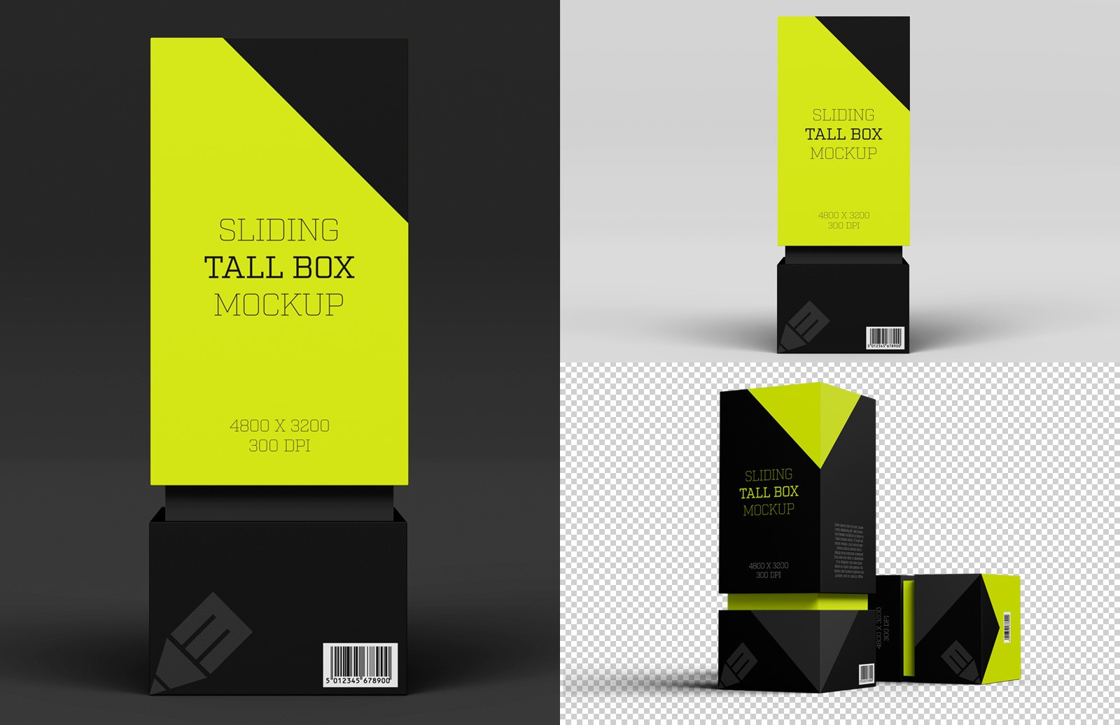 Sliding Tall Box Mockup Preview 1