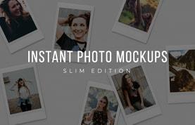 Slim Instant Photo Collage Mockups