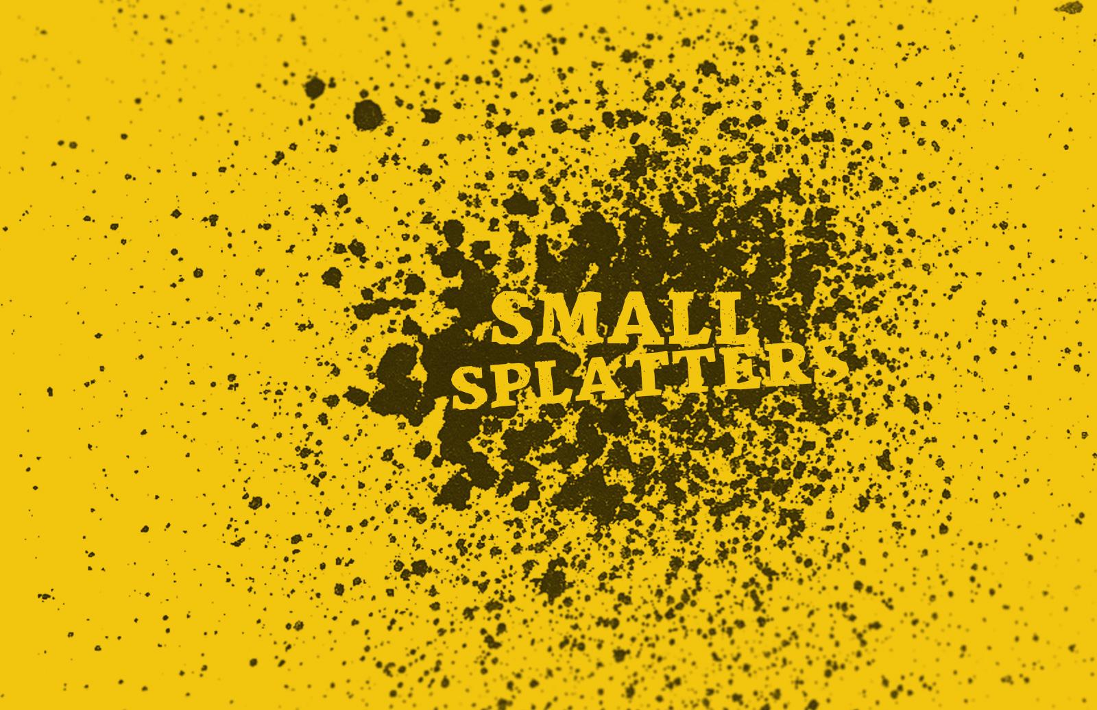 Small  Splatter  Brush  Set  Preview 1