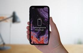 Smartphone In-Hand Mockups
