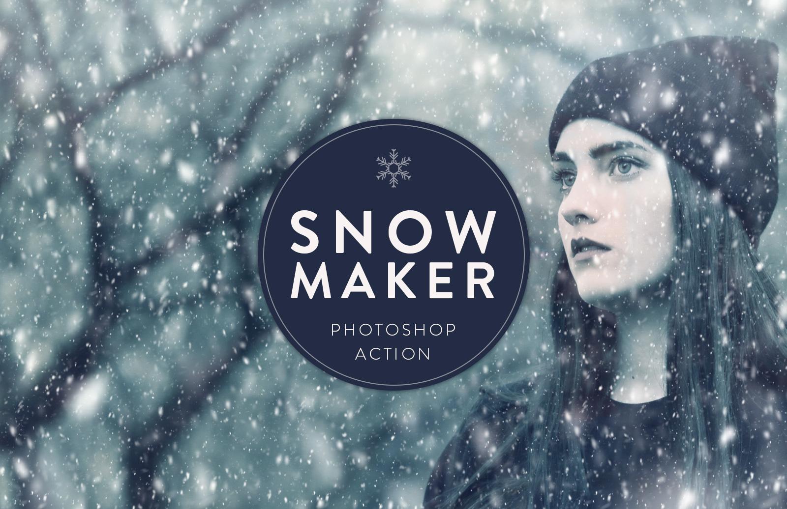Snow Maker Photoshop Action 1